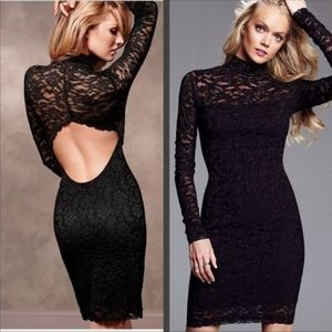 Moda International Black Lace Cocktail Dress